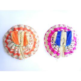 Bal Gopal Lace Velvet Colorful Poshak ( 0 No. ) - 2 Pcs