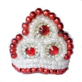 Moti Work Mukut For Laddu Gopal / Shringar For Bal Gopal / Mukut For Decorating God