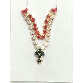 Beautiful Double Chain Neckpiece For Bal Gopal / Designer Haar - 2 Pcs