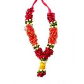 Designer Mala For Goddess / Cloth Flower Mala For Statue