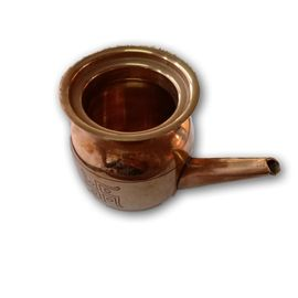 Jal Aarpan Kalash / Pooja Kalash / Copper Swastik Embossed Lota