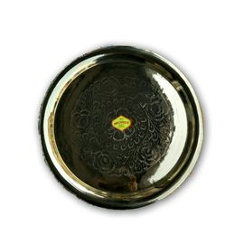Brass Pooja Thali For Aarti / Pooja Thali / Designer Brass plate