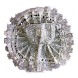 Silver Lace White Color Laddu Gopal Poshak ( 1 No. )