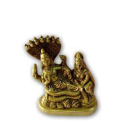 Bras Vishnu Laxmi Statue / Decorative Brass Goddess Statue / Pooja Murti