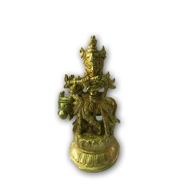 Beautiful Kanha Statue / Flauting Kanha With His Cow / Pooja Kanha Murti