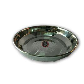 Steel Plate / Serving Plate / Rajhans Halwa Plate - 2 Pcs