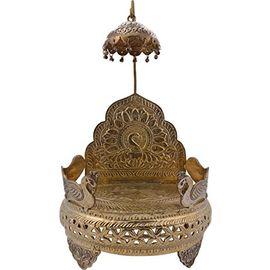 Brass Chatra Singhasan / Golden Singhasan / God Idol Singhasan