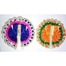 Beautiful Designer Poshak For Bal Gopal Shringar / Poshak For Laddu Gopal - 2 Pcs