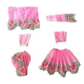 Elegent Lace Work Poshak For Radha Krishna / Beautiful Poshak Set For Goddess