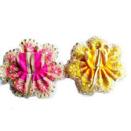 Laddu Gopal Dress Desginer Lace Stone Work Poshak ( 0 No. ) - 2 Pcs