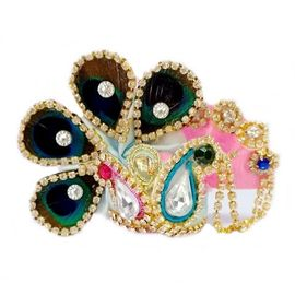 Beautiful Heavy Daimond Work Mukut For Laddu Gopal / Designer Pagri For Bal Gopal