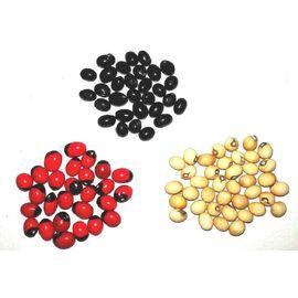 Natural Red, White Black Gunja/Chirmi/Chirmu 21 Pcs Each