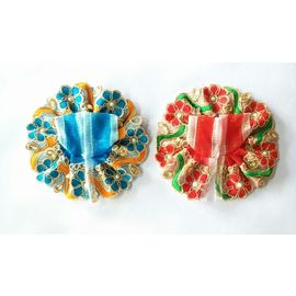 Thread Flower Poshak For Laddu Gopal / Beautiful Poshak For Bal Gopal (0 No) - 2 Pcs