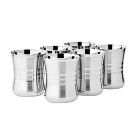 Stainless Steel Drinking Water Glass Set Of 2