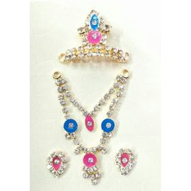 Beautiful Jewellery Set Of Bal Gopal / Designer Set Of God Jewellery