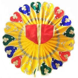 Elegent Poshak For Laddu Gopal / Heart Design Heavy Border Poshak / Poshak For Bal Gopal