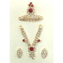 Beautiful Jewellery Set Of Laddu Gopal / Designer Set Of God Jewellery
