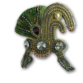Elegent Zari Work Mukut For Laddu Gopal Shringar / Beautiful Zari Work Mukut For Thakurji (6 No)
