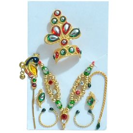 Ladoo Gopal Shringar Full Set (Set Of 2)