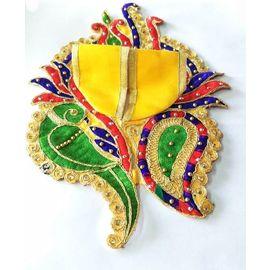 Shankh Design Poshak For Laddu Gopal Shringar / Designer Poshak For Bal Gopal