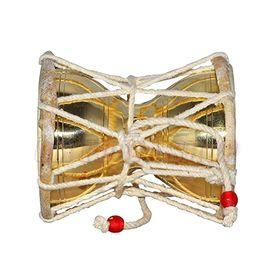 Brass Damru / Shiva Damru / Brass Pooja Damru