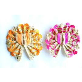 Laddu Gopal Pearl Work Poshak Multicolor ( 0 No. ) - 2 Pcs
