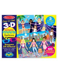 Melissa & Doug Easy to See 3D Fashions Puzzle, Multi Color