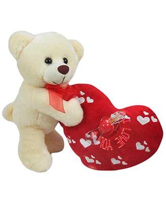 Archies Musical Teddy Bear with Heart, Multi Color (25cm)