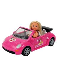 Simba Steffi Love Disney Minnie Mouse Beetle Cabrio, Multi Color (12cm)