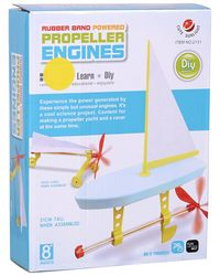 Cute Sunlight Rubber Band Power Propeller Kit