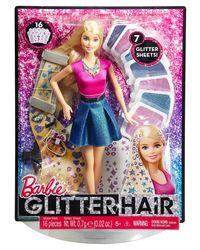 Barbie Glitter Hair Design Doll, Multi Color