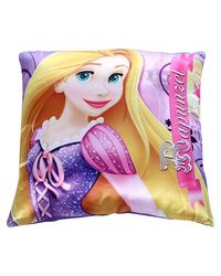 "Disney Rapunzel Printed Satin Cushion - 16"" x 16"" , Multicolor"