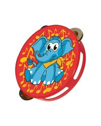 Simba My Music World Plastic Tambourine, Multi Color (Elephant Version)