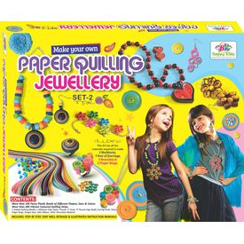 Art & Craft Toys Paper Quilling Jewellery Toys- SET 2