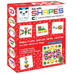 Play Panda Fun Magnetic Shapes, Red