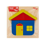 EDUedge House Puzzle• Made from high quality wood amd wood composite. • Coated with safe paints for children. • Smooth edges and corners. A tray with raised puzzle.