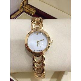 Imported Bridal Wear Designer Movado Golden Belt Gift Watch Women Lady Ladies White Dial