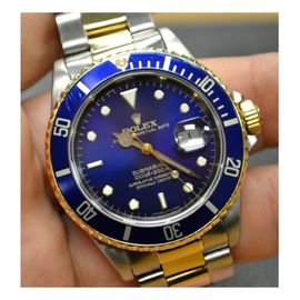 ROLEX STEEL AND YELLOW GOLD BLUE DIAL