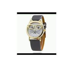 New Cat Frame Grey Color Strap Watch For Women