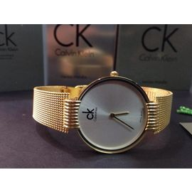 Imported Bridal Wear Designer CK Chain Golden Belt Gift Watch Women Lady Ladies White Dial