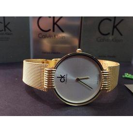 Imported Bridal Wear Designer CK Chain Golden Belt Gift Watch Women Lady Ladies White Dial