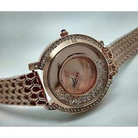 Imported Bridal wear Silver Diamond Gift watch Women Lady ladies Purple Dial
