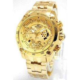 100% Authentic Casio Edifice EF550D Full Gold Watch