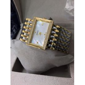 Imported Bridal Wear Designer GUCCI Golden Belt Gift Women Lady Ladies White Dial WATCH STONE BEADED